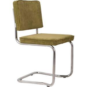 Sada 2 zelených židlí Zuiver Ridge Kink Rib
