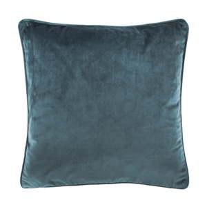 Tmavě tyrkysový polštář Tiseco Home Studio Velvety, 45x45cm