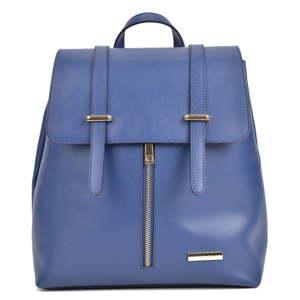 Modrý dámský kožený batoh Sofia Cardoni