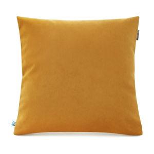 Žlutý povlak na polštář se sametovým povrchem Mumla Velvet, 45 x 45 cm