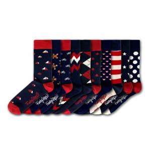 Sada 10 párů pánských barevných ponožek Funky Steps Boy Dark Mix II., velikost 41 - 45