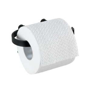 Černý nástěnný držák na toaletní papír Wenko Classic Plus