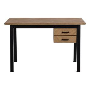 Pracovní stůl v dubovém dekoru Actona Brighton Herringbone
