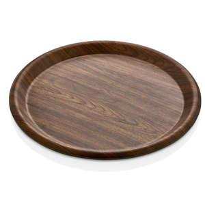 Hnědý talíř Evelin, ø 35 cm