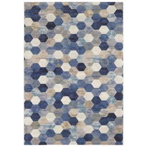 Modro-krémový koberec Elle Decor Arty Manosque, 120 x 170 cm
