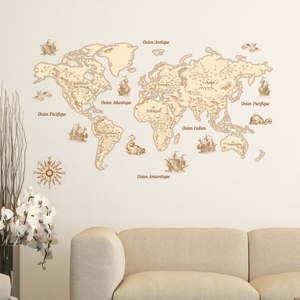 Nástěnná samolepka Ambiance Vintage World Map