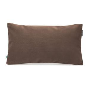 Hnědý povlak na polštář se sametovým povrchem Mumla Velvet, 30 x 50 cm