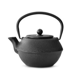Černá litinová konvice se sítkem na sypaný čaj Bredemeijer Jang, 1,2l