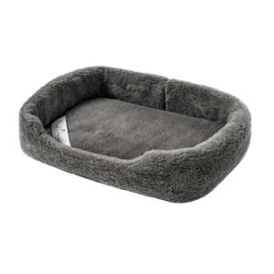 Tmavě šedý zvířecí pelíšek z merino vlny Royal Dream, šířka60cm
