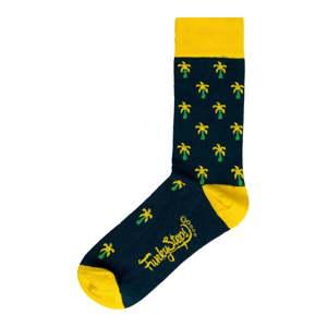 Pánské zeleno-žluté ponožky Funky Steps, velikost 41 - 45