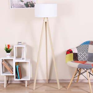 Volně stojící lampa s bílým stínítkem Kate Louise Celina