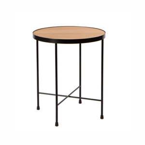 Odkládací stolek s deskou z dubového dřeva Nørdifra Oak, ⌀43cm
