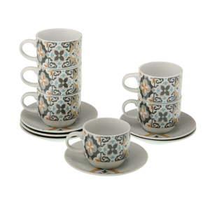 Set 6 hrnečků na čaj s podšálkem a stojanem Versa Tea