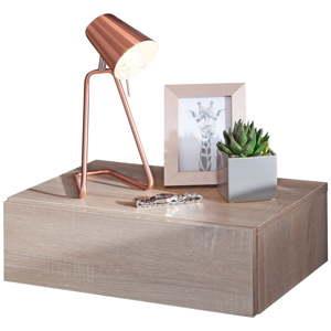 Světle hnědý nástěnný noční stolek Skyport Wohnling Dream