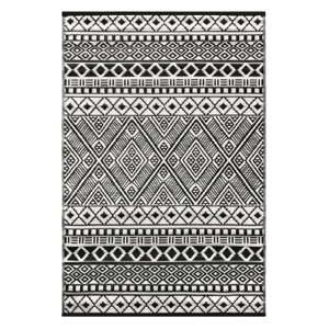 Černo-bílý oboustranný koberec vhodný i do exteriéru Green Decore Hanna, 120 x 180 cm
