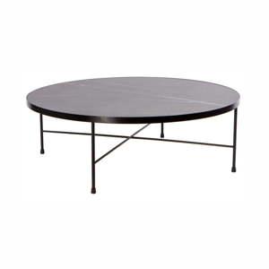 Černý kovový konferenční stolek Nørdifra Marble, ⌀90cm