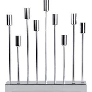 Stříbrný LED svícen Best Season Pix, výška 50 cm