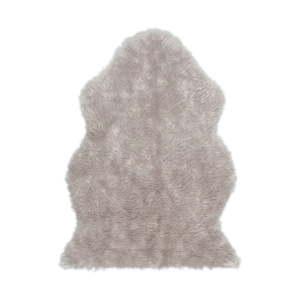 Šedý koberec z umělé kožešiny Tekli, 70x100cm