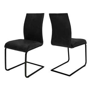 Černá jídelní židle Canett Clipper