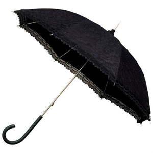 Černý holový deštník Ambiance Victorian, ⌀85cm