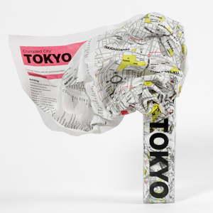 Zmačkaná cestovní mapa Palomar Tokio