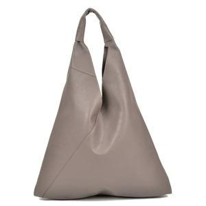 Šedá kožená nákupní taška Anna Luchini