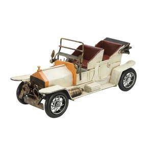 Dekorativní bílé kovové auto Mauro Ferretti Old Car