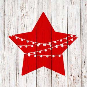 Balení 10 papírových ubrousků s vánočním motivem PPD Chalet Deco Star