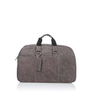 Šedohnědá cestovní taška z telecí kůže Ferruccio Laconi Traveler