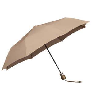 Béžový skládací deštník Ambiance Mini-Max Beige, ⌀100cm