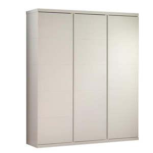 Bílá šatní skříň Vipack Lara, výška 204 cm