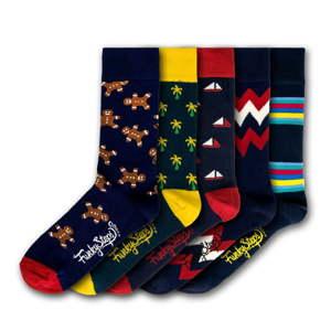 Sada 5 párů pánských ponožek Funky Steps Mix, velikost 41 - 45