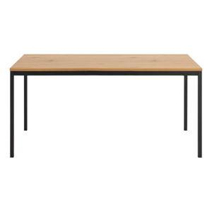 Jídelní stůl s kovovou konstrukcí a deskou v dekoru divokého dubu Actona Seaford,160x90x74cm