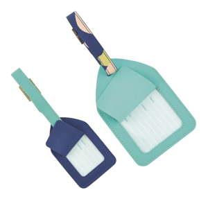 Sada 2 modrých visaček na zavazadla Busy B