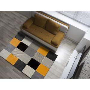 Oranžovo-šedý koberec Universal Gladys Lento, 140 x 200 cm