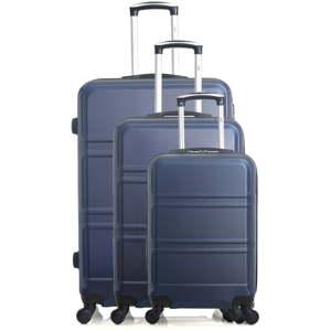 Sada 3 modrých cestovních kufrů na kolečkách Hero Utah