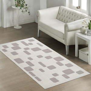 Béžový odolný bavlněný koberec Vitaus Mozaik Bej, 80 x 150 cm