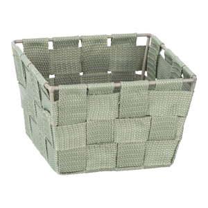 Zelený úložný box Wenko Adria, 14x14cm