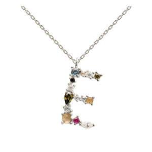 Stříbrný náhrdelník PD PAOLA Monogram E