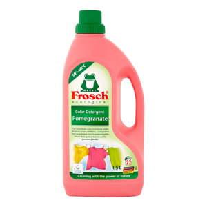 Prací gel na barevné prádlo Frosch s vůní granátového jablka, 1,5l(22praní)
