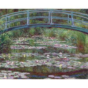 Reprodukce obrazu Claude Monet - The Japanese Footbridge, 50 x 40 cm