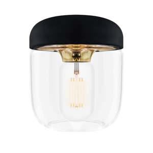 Černé stínidlo s objímkou zlaté barvy VITA Copenhagen Acorn, ⌀14cm