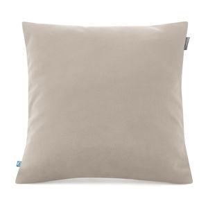 Béžový povlak na polštář se sametovým povrchem Mumla Velvet, 45 x 45 cm