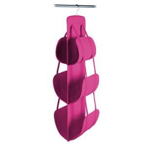 Růžový závěsný úložný box na kabelky JOCCA, 105x30cm