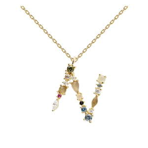 Pozlacený náhrdelník PD PAOLA Monogram N