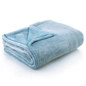 Tyrkysová deka z mikrovlákna DecoKing Fluff Turquoise, 220x240cm