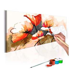 DIY set na tvorbu vlastního obrazu na plátně Artgeist Poppies, 100x40 cm