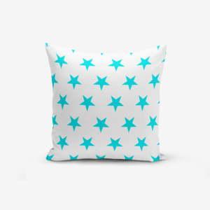 Povlak na polštář s příměsí bavlny Minimalist Cushion Covers Turquoise Star Modern, 45 x 45 cm