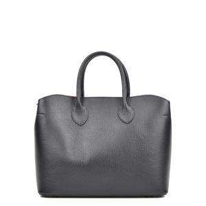 Černá kožená kabelka se 3 kapsami Isabella Rhea