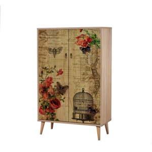 Dřevěná skříň Ananias Cage, výška 127cm